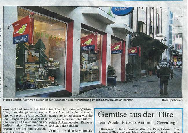 Bergsträßer Anzeiger 21.01.2006 Ladenwerbung (Beschriftung, Leuchtschild, Fahnen)
