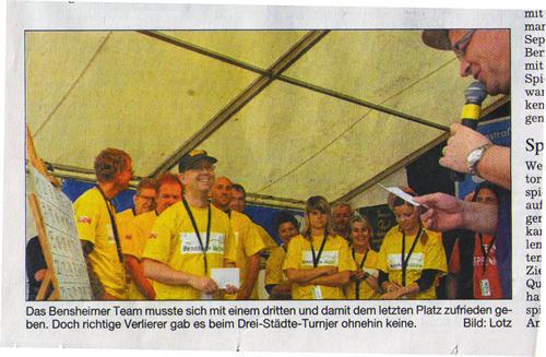 Bergsträßer Anzeiger 14.5.2007 T-Shirt Druck für Bensheim Aktiv