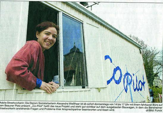 Bergsträßer Anzeiger 2.4.2005 Beschriftung Bauwagen