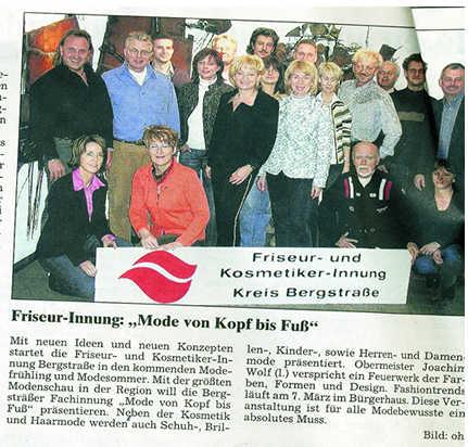 Bergsträßer Anzeiger 15.2.2005 Innungsschild
