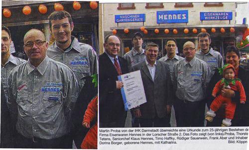 Bergsträßer Anzeiger 1.11.2007 Textildruck Fa. Hennes Heppenheim