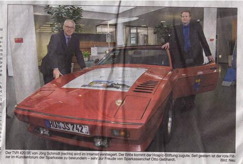Bergsträßer Anzeiger 7.3.2007 PKW-Beschriftung Hospiz Verein