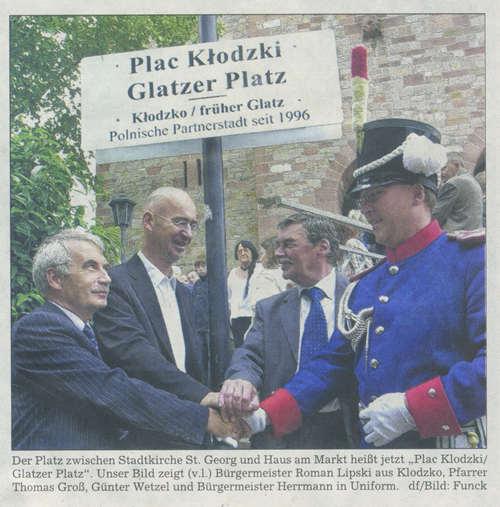 Bergsträßer Anzeiger 4.9.2006 Alu-Schild mit Rohrbefestigung