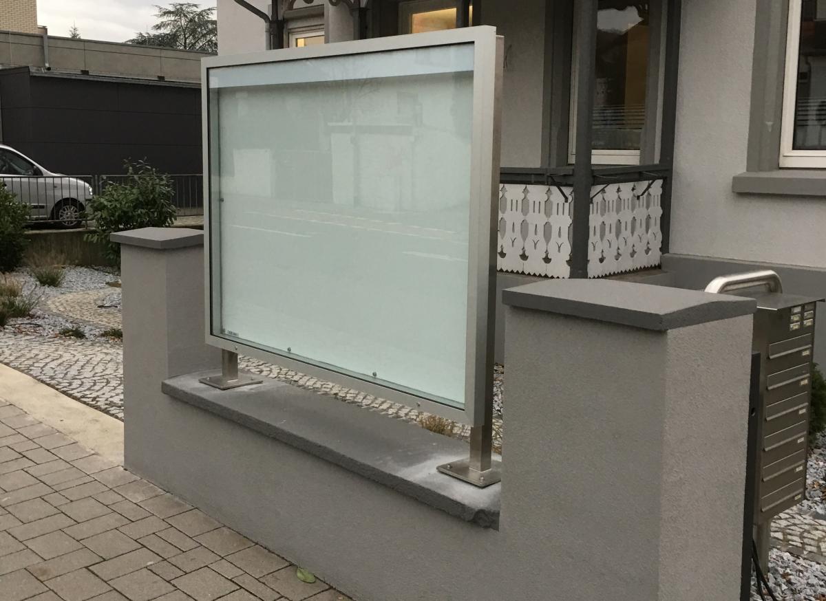 LED-Schaukasten outdoor 1600x1200 mm inkl. VA-Rahmen und Montage