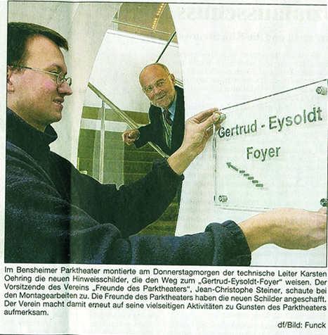 Bergsträßer Anzeiger 4.3.2005 Plexiglas-Schild