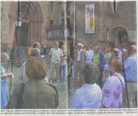 Bergsträßer Anzeiger 12.9.2006 PVC-Plane anlässlich eines Kirchenjubiläums