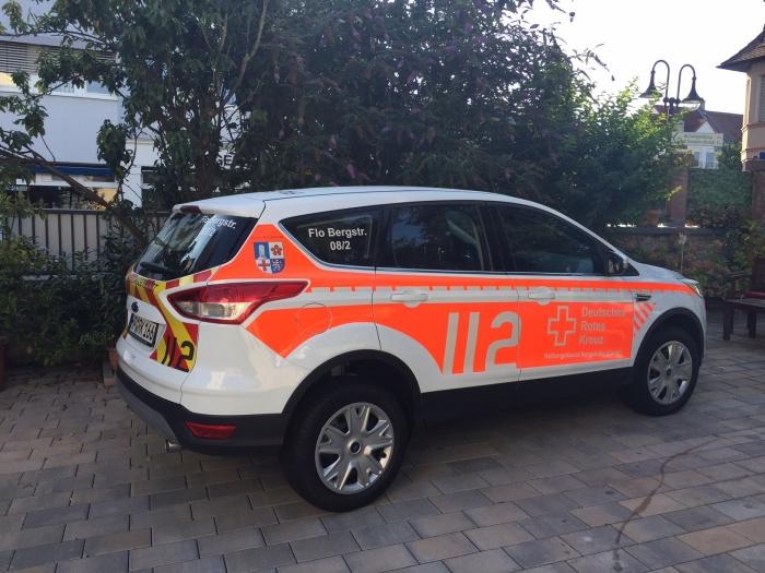 Rettungsfahrzeug / Beschriftung nach DIN 14502-3