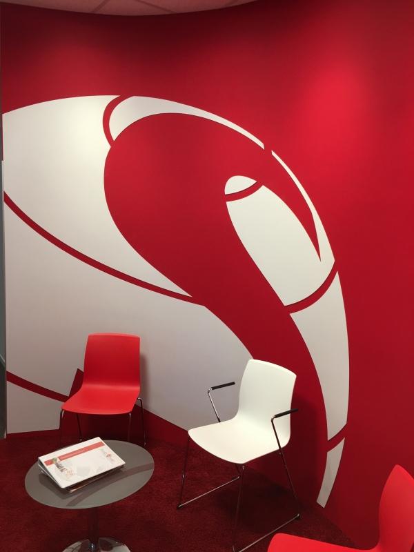 PVC gefräste Logos als Wand-Tatoo